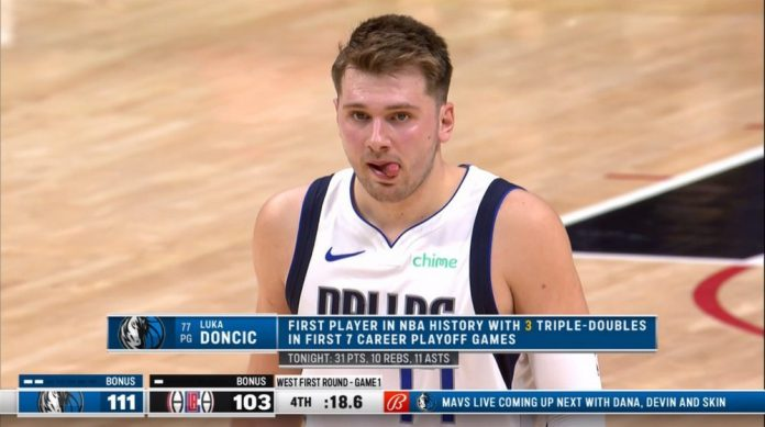 Mavericks Rob Staples Center: simple Luca Doncic, Docile Clippers, orden cancelada