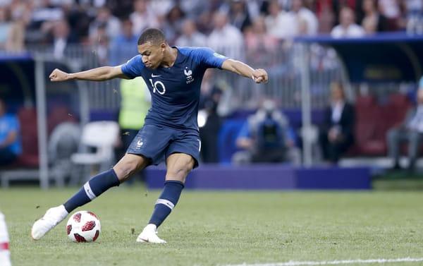 Kylian Mbappé marcó el cuarto gol de su equipo en la final entre Francia y Croacia de la Copa Mundial de la FIFA 2018