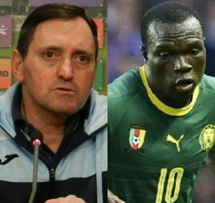 Antonio Conceicao defiende a Vincent Aboubacar y JC Bilong