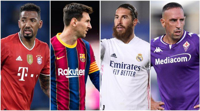 Messi, Ramos, Boateng: los 12 mejores jugadores sin contrato