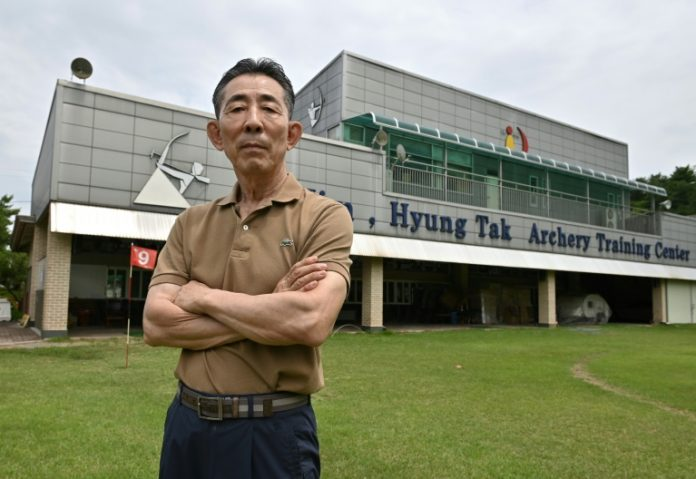 L'ancien entraîneur de l'équipe surd-coréenne de tir à l'arc, le 22 juin 2021 à Goesan (AFP/Archives - Jung Yeon-je)