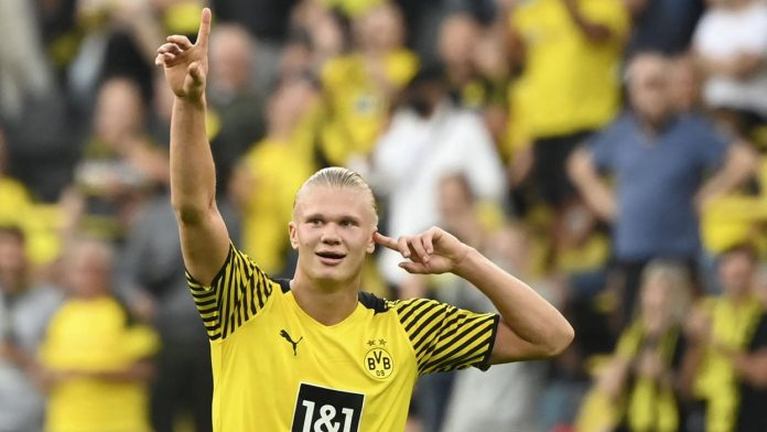 2 goles, 3 asistencias, en un partido, el brutal atacante Erling Haaland sacudió a toda la Bundesliga