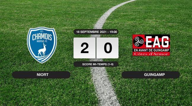 Guingamp (2-0): Resumen de la octava jornada del partido de segunda división francesa